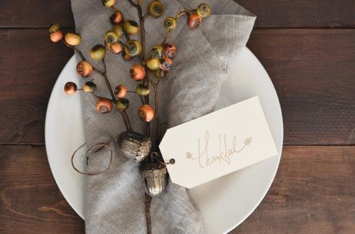 Thankful place setting